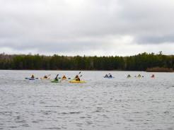 14-05-22 middle of lake lots of kayaks
