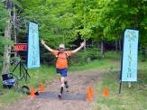 The joy of finishing a fun race!