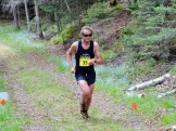 The eventual winner of the men's 20k heads for the finish