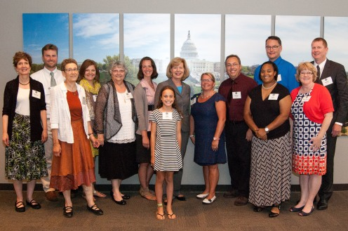 Wisconsin Green School educators with Senator Tammy Baldwin