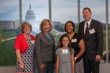 Greendale School District group with Senator Tammy Baldwin