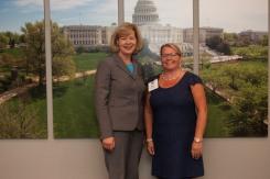 Hurley School with Senator Tammy Baldwin
