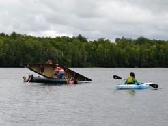 righting a canoe