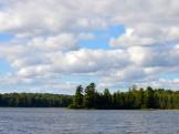 Looking out across Big Bateau Lake