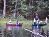 Returning to the Big Bateau canoe base