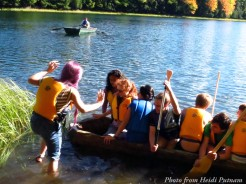 Trying to fit nine in the canoe