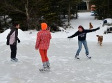 14-12-07 Lake Ice Lange Sarah Heidi Teddy Copper
