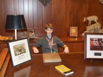 At Jim's desk