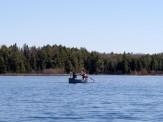 Alex and Ingrid on Big Bateau Lake