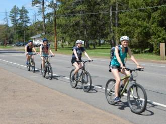 Biking into town