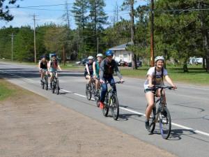 Biking to Land O' Lakes
