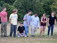 Sharing highlights during community meeting
