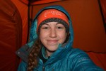 Solo tent selfie