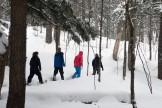 16-02-03 Sylvania Snowshoe 04 in the woods walking