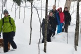 16-02-03 Sylvania Snowshoe 05 in the woods walking