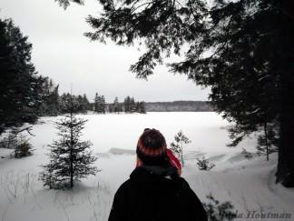 16-02-03 Sylvania Snowshoe 14 Approaching Loon