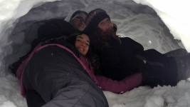 Matt, Phoebe, and Acacia making themselves at home. Photo by CS12 student Niko.
