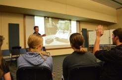 Alex leading a seminar on technology
